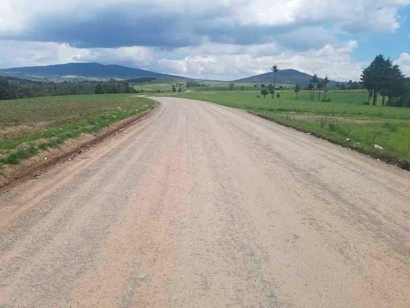 La zona norte de Almoloya de Juárez reviste más de 20 km de caminos