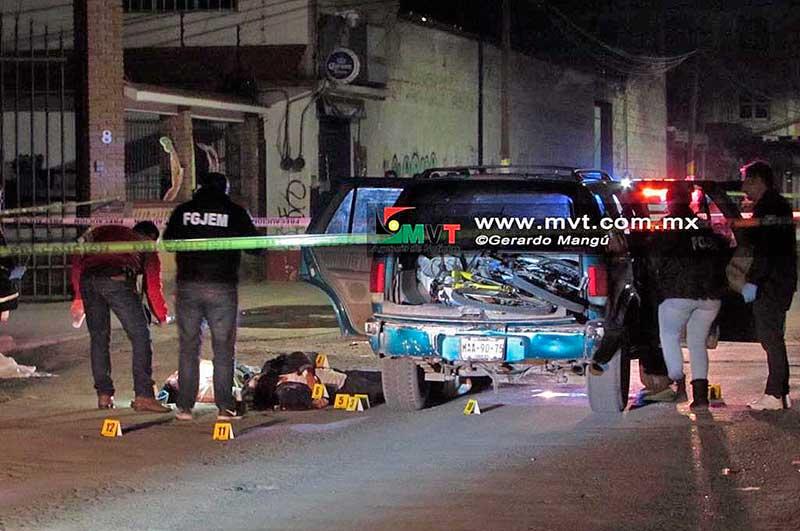 Asesinan a cuatro personas en San Andrés Cuexcontitlán, en la zona norte de Toluca