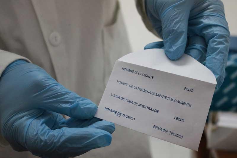 Confrontarán muestras de ADN de familiares de personas desaparecidas
