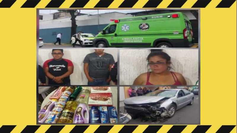 Policía de Toluca captura a 4 tras persecución y choque en la col. Sánchez