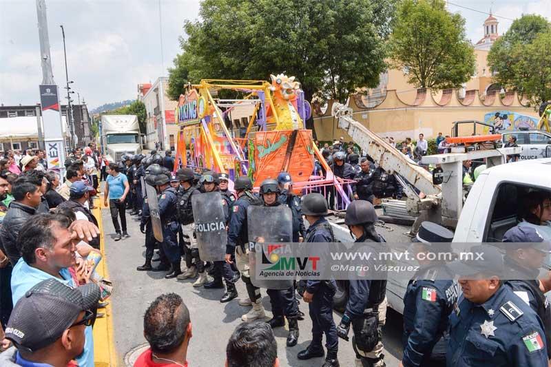 Toluca retiró los juegos mecánicos del Carmen por no cumplir la normatividad