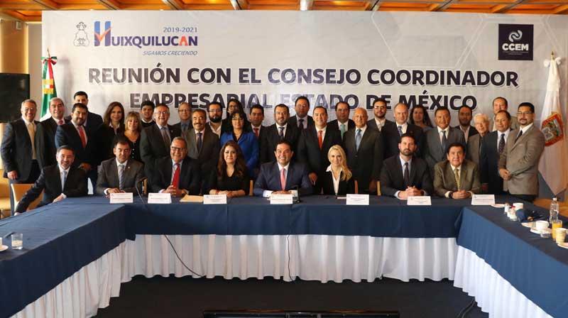 Empresarios reconocen políticas de Huixquilucan en materia económica, de seguridad y desarrollo social
