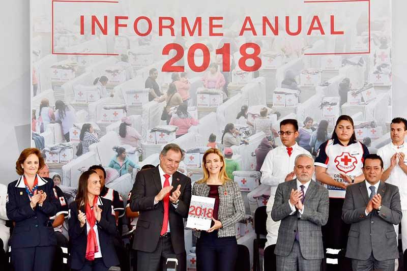 Cruz Roja cumple a mexiquenses con transparencia y rendición de cuentas