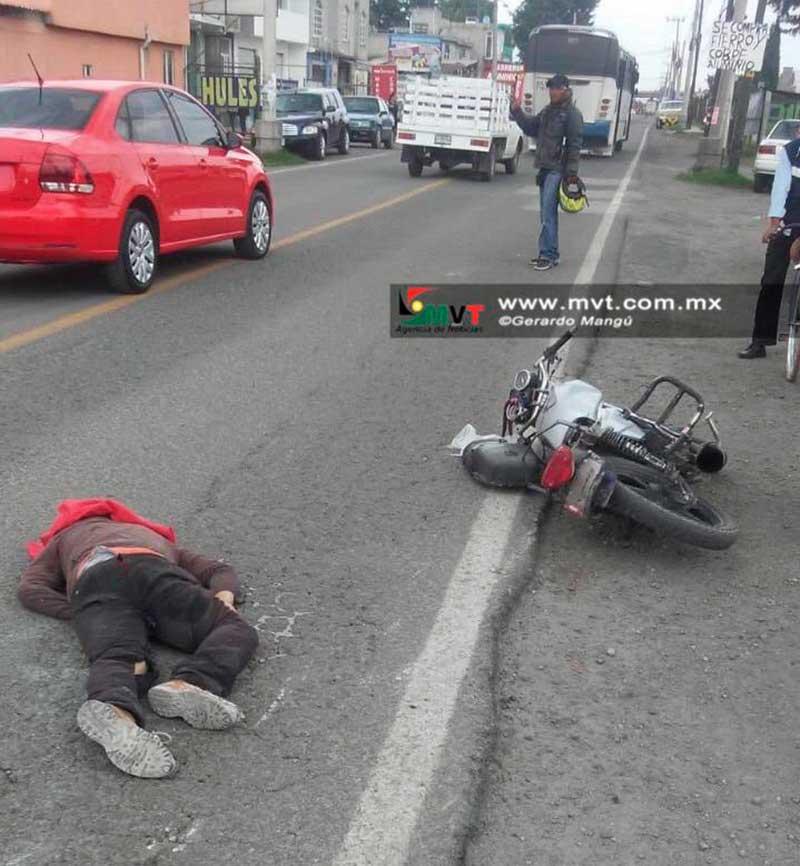 Muere motociclista al caer en Av. Las Partidas y ser arrollado por un camión
