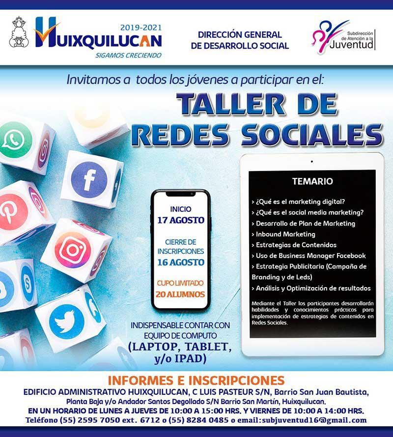 El gobierno de Huixquilucan realizará taller de redes sociales dirigido a jóvenes