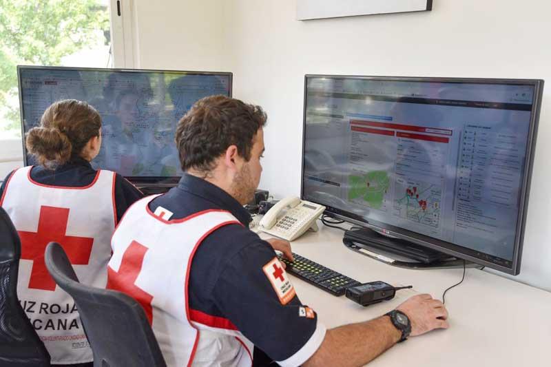 Ambulancias de Cruz Roja se monitorean por sistema satelital para eficientar atención de emergencias