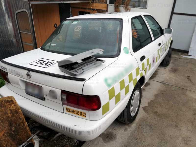 Localizan predio con taxis desvalijados en San Diego de los Padres Toluca, hay un detenido