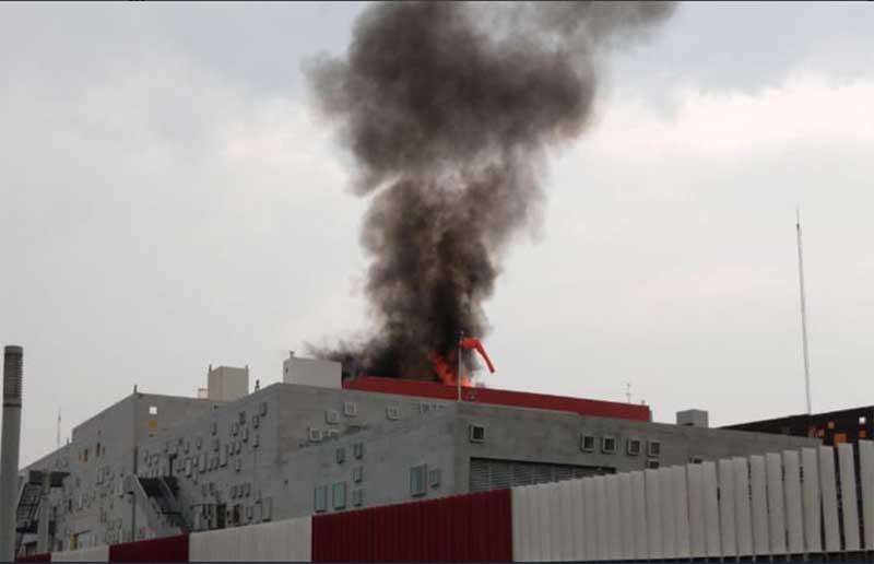 Incendio en el hospital de alta especialidad de Zumpango sin mayores afectaciones