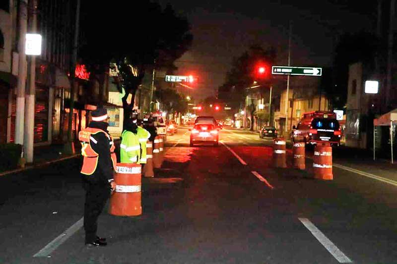 Detenidos 13 conductores en el alcoholímetro de Toluca el fin de semana