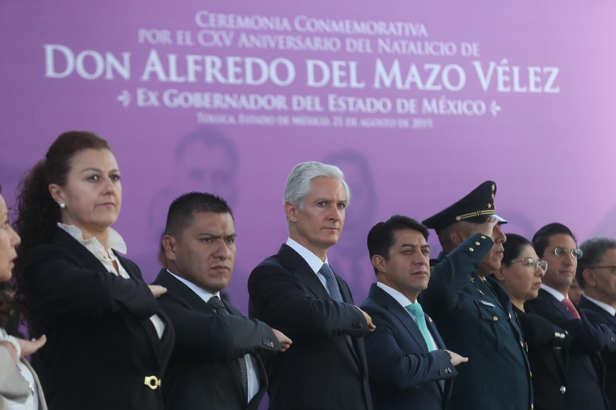 Conmemoran 115 aniversario del natalicio de Alfredo del Mazo Vélez