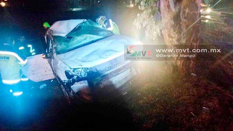 Dos muertos y un herido grave por accidente en la vía Palmillas