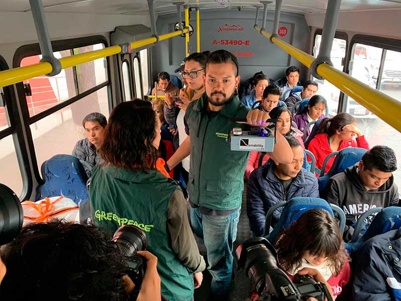 Greenpeace monitorea calidad del aire en Toluca