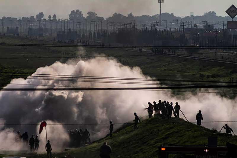 Por fuga de gas fueron evacuadas 2500 personas en Nextlalpan y se movilizaron 750 elementos de seguridad