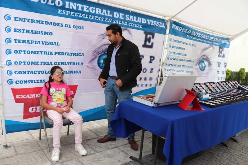 Para este regreso a clases Huixquilucan realiza campaña de salud visual