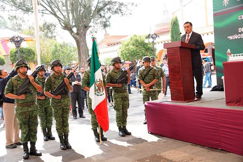 Almoloya de Juárez conmemora el CLXXII  Aniversario de la gesta heroica de los niños héroes del Castillo de Chapultepec