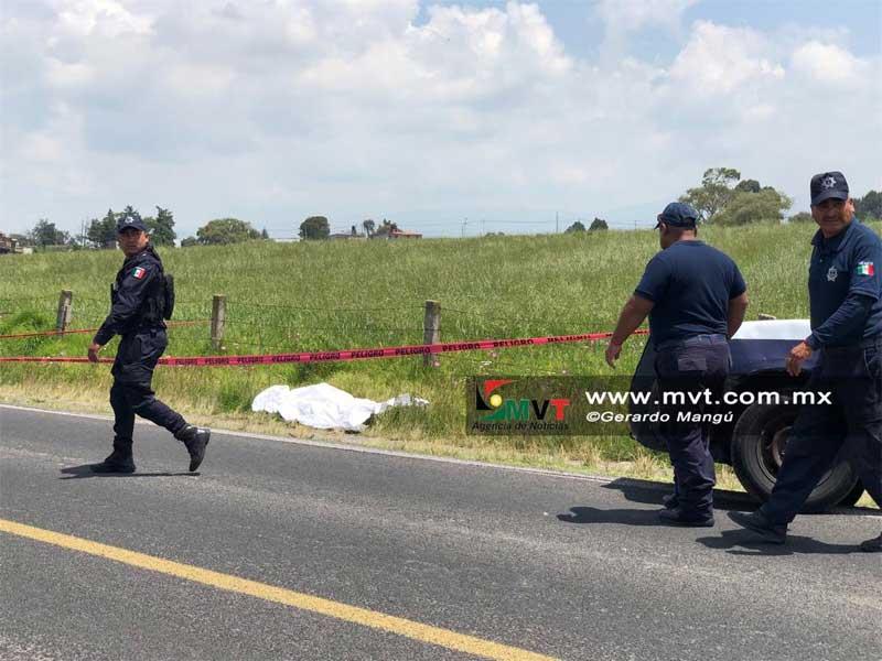 Asesinan a un hombre a balazos en la carretera libre a Ixtlahuaca