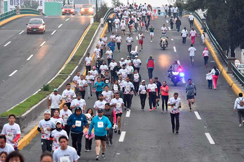 Gran respuesta a la carrera en apoyo a la Cruz Roja Mexicana