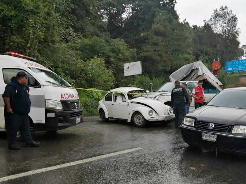 Una persona muere y dos menores lesionados por choque en la carretera a Tenancingo