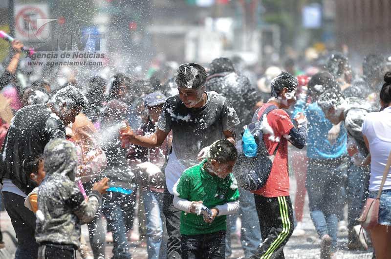 No se permitirá la venta de espuma en las fiestas de independencia