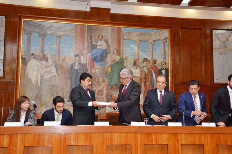 Secretaría de Gobierno entrega a LX Legislatura el segundo informe de gobierno