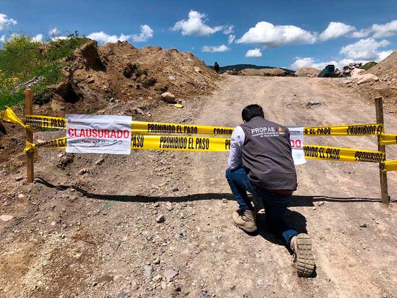 Propaem clausura minas en las faldas del volcán Xinantécatl