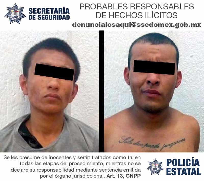 Son detenidos por robar con violencia una casa habitación en Tenancingo