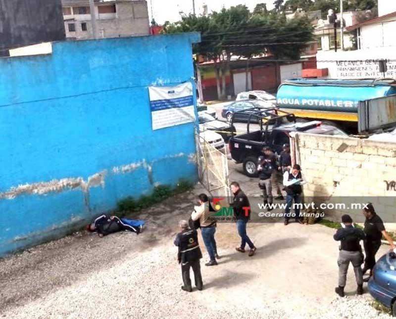 Asesinan a un hombre en la colonia Moderna de la Cruz, Toluca