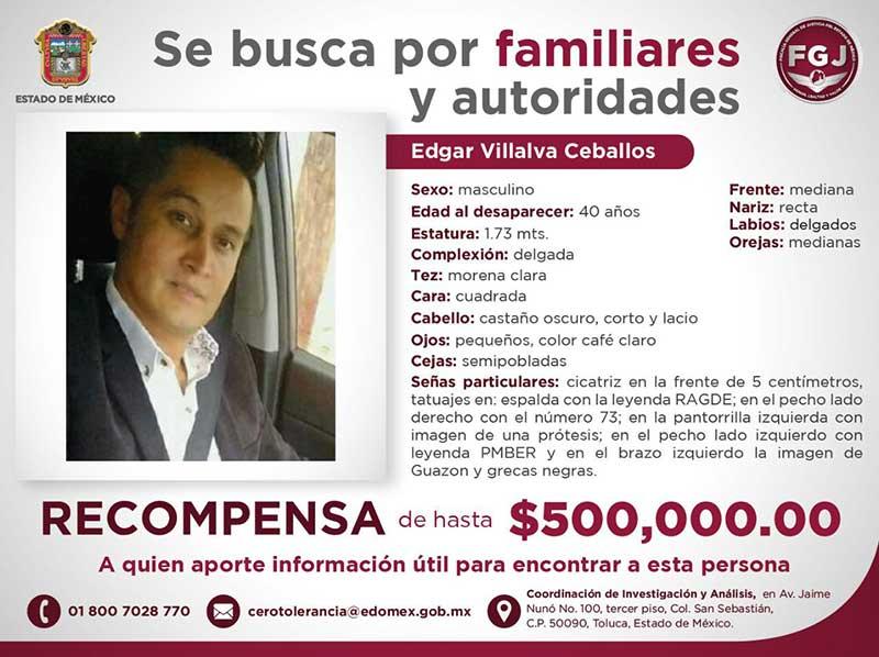 Medio millón de pesos para localizar a persona desaparecida en San Luis Obispo Toluca