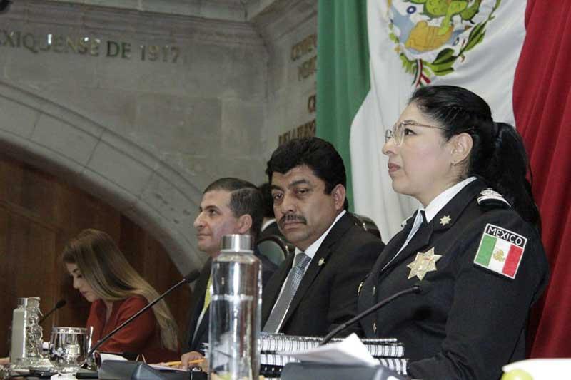 Informa Maribel Cervantes acciones emprendidas y avances de la Estrategia Integral de Seguridad en EdoMéx