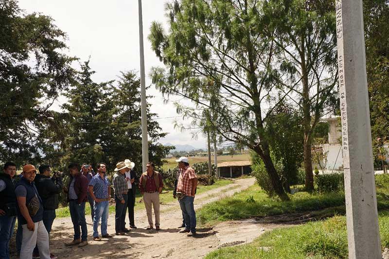Inicia ampliación de red de electrificación en La Unión, Cieneguillas de Guadalupe.