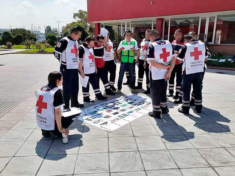 Capacitan a Coordinadores de Cruz Roja Mexicana para enfrentar emergencias masivas