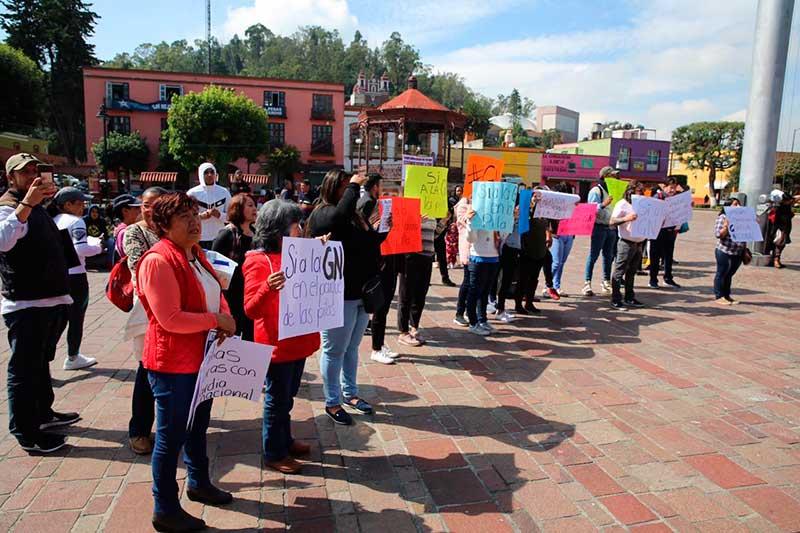 Habitantes aceptan que llegue la Guardia Nacional a Metepec