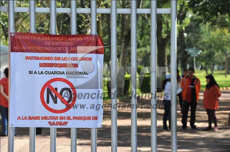 Instalación de la Guardia Nacional en parque La Pila no es decisión definitiva