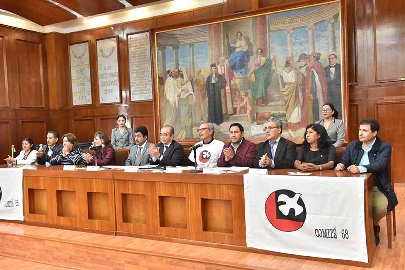 Rinde la Legislatura Mexiquense homenaje al movimiento estudiantil de 1968