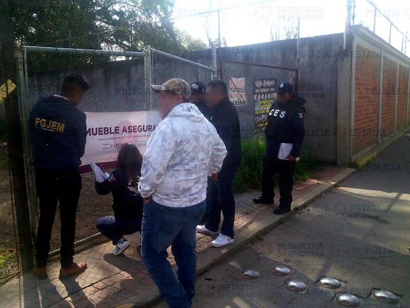 Recuperan vehículo robado en Ocoyoacac y resguardan el predio