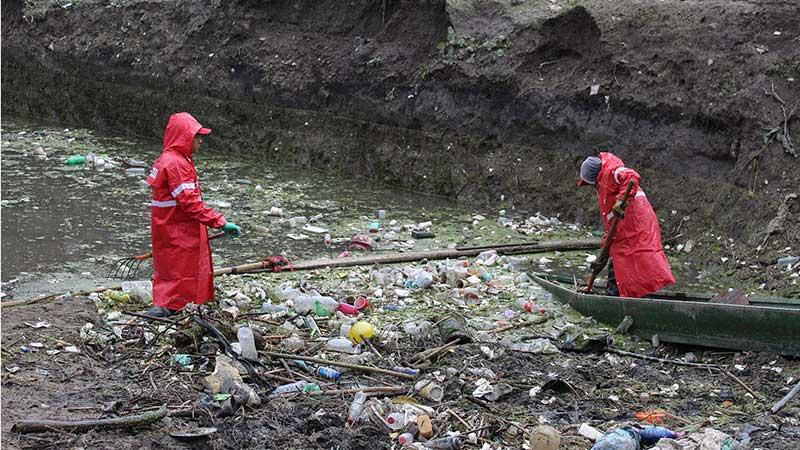 Retira CAEM cerca de 4 mil toneladas de basura durante la temporada de lluvia 2019