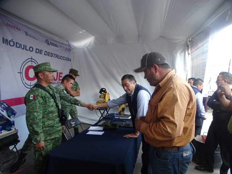 Inicia programa de Canje de Armas de fuego en Almoloya de Juárez