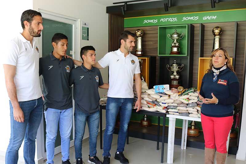 Potros UAEM FC colabora con el Banco de alimentos del Estado de México