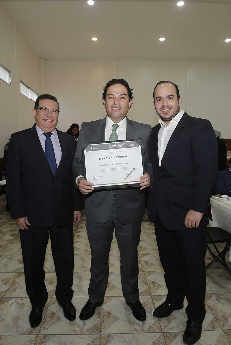 Huixquilucan obtiene reconocimiento del Instituto Hacendario