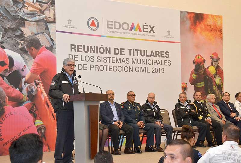 Se reúnen titulares de sistemas municipales de Protección Civil del Edoméx