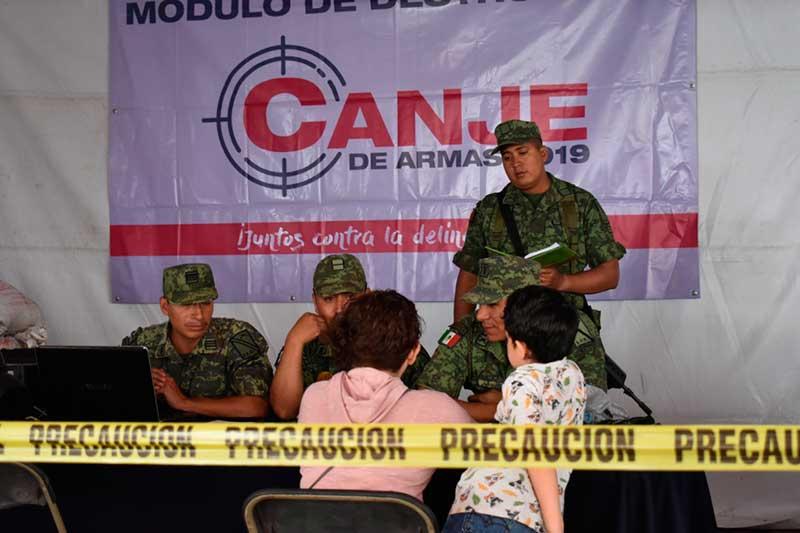Más de 62 mil armas de fuego salieron de las calles con programa de seguridad