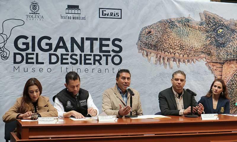 Anuncia Toluca exposición Gigantes del Desierto, Museo Itinerante