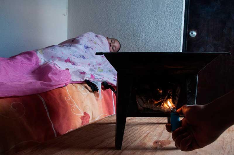 Un peligro el uso de anafres para calentar habitaciones