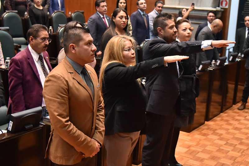Diana Mancilla y Gonzalo Levi rinden protesta como Consejeros Ciudadanos de la CODHEM