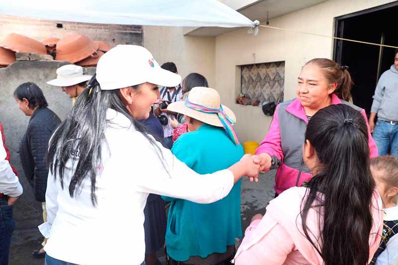 Alcaldesa de Metepec informa actividades de gobierno en la UH Lazaro Cárdenas