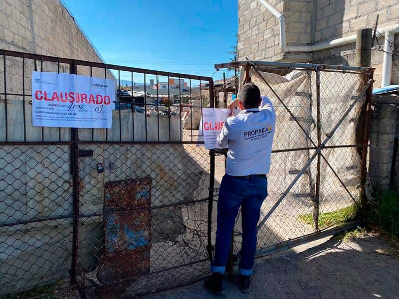 Propaem clausura dos recicladoras en Zinacantepec