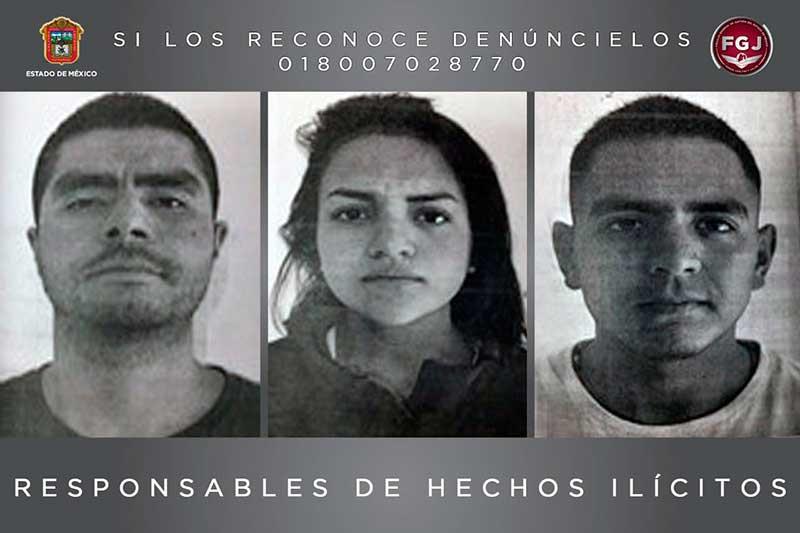 Sentencias a 23 años de prisión a tres personas por robo de vehículo con violencia