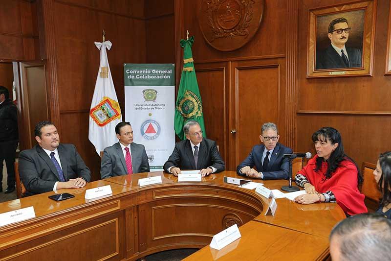 UAEM y Protección Civil de la entidad firman convenio para fortalecer cultura de la prevención