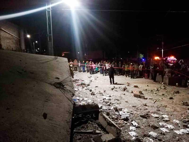 Explosión de pirotecnia en festividades religiosas de Lerma y Temascalcingo