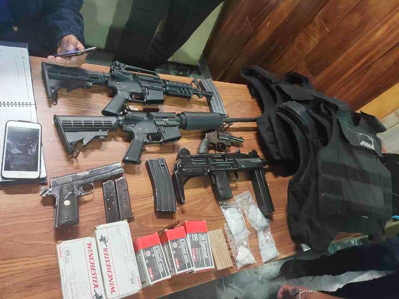 Decomisan armas y droga en el operativo realizado ayer en Rancho San Juan